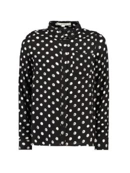 garcia blouse met stippen g92432 zwart