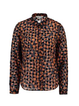 garcia blouse met allover print ge901204 blauw