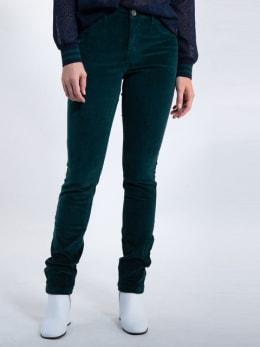 garcia broek met fluweel j90315 groen