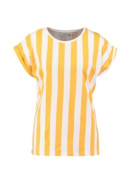 dedicated t-shirt geel visby big stripes