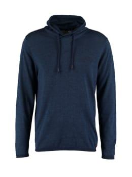 pilot sweater met overslag col pp910801 blauw
