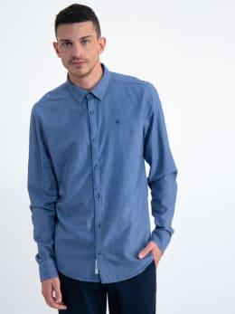 garcia overhemd m01033 blauw