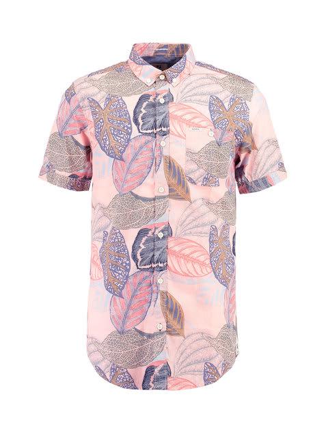 Roze Overhemd Heren Korte Mouw.Garcia Overhemd Korte Mouwen E91026 Roze Overhemden Heren