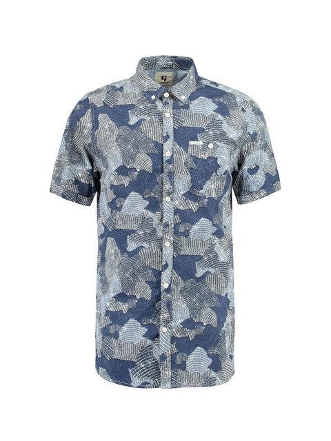 Overhemd Korte Mouw Heren.Garcia Overhemd Korte Mouwen D91232 Blauw Heren New Arrivals