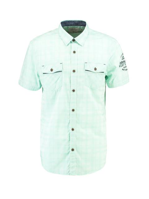 Overhemd Mintgroen.Pilot Overhemd Korte Mouwen Pp910710 Mintgroen Pilot Brands