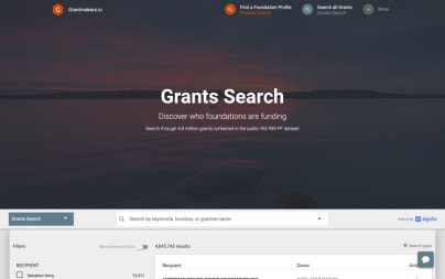 Grantmaker Search