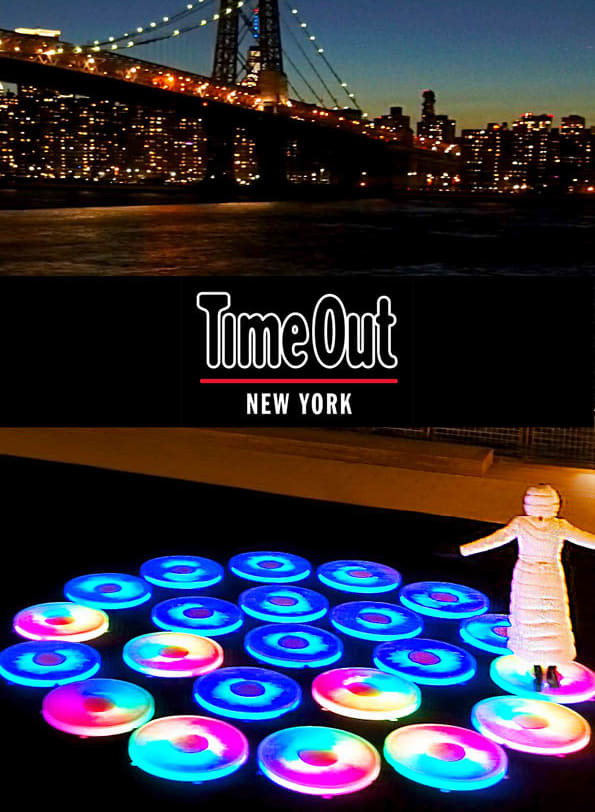 TimeOut NY Article: this immersive new public art installation brings colorful light-up platforms to the Brooklyn waterfront