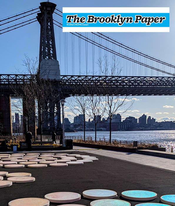Brooklyn Paper Article: Interactive Circles Public Art Exhibit Debuts at Domino Park