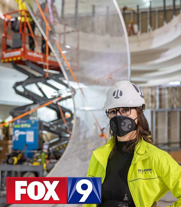 Fox 9 news segment on The Aurora installation at MSP airport