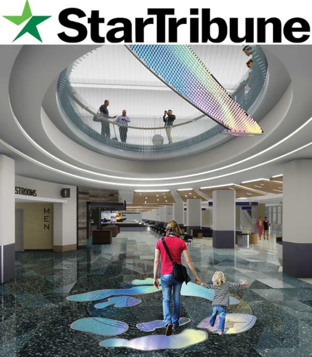 Star Tribune: The Aurora installation at MSP video