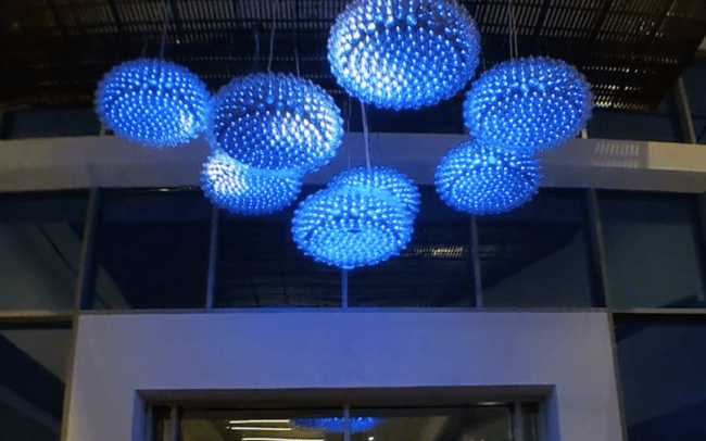 Suspended Interactive Chandelier