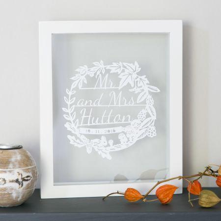 autumn wedding papercut jennifer giles