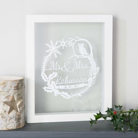 winter wedding papercut