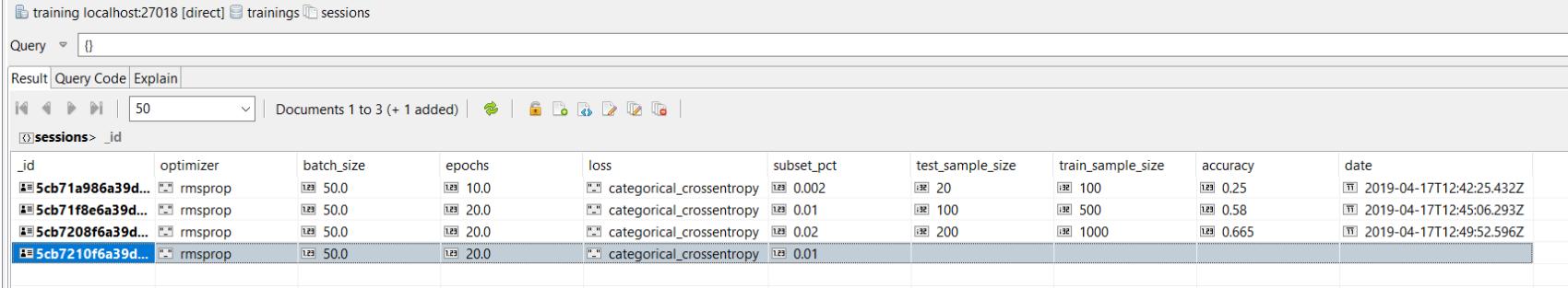 Studio 3T Screenshot Input Parameters Files