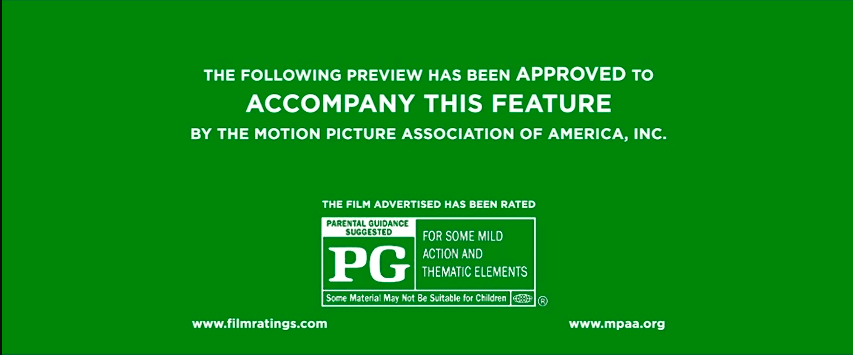 Daniel Opie AS Media Blog: Film Classification Ratings - PG