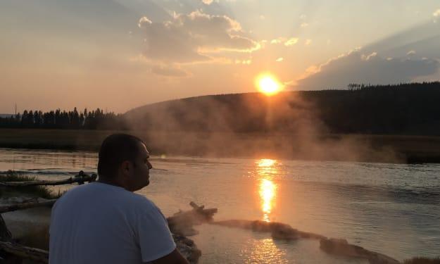 Sunrise at Yellowstone National Park