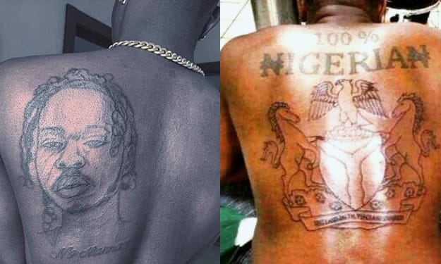 7 Most RIDICULOUS Nigerian Tattoos (Photos).
