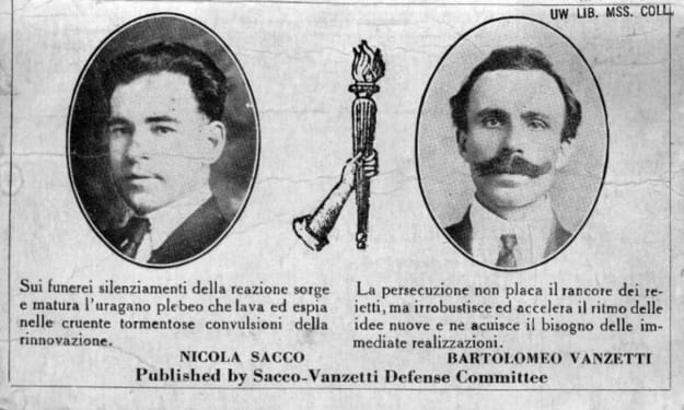 Reason First: The Earned Agony of Nicola Sacco & Bartolomeo Vanzetti