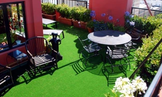 Exterior Design With Artificial Grass