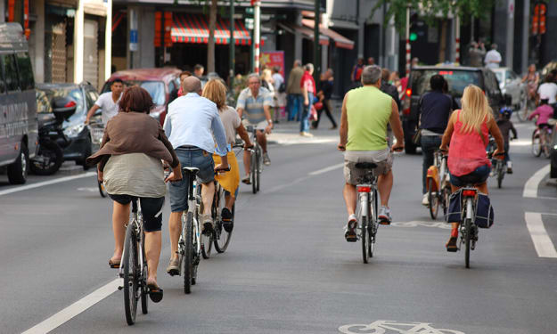 The dangers of biking in the city without bikers.