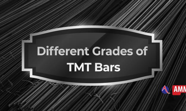 DIFFERENT GRADES OF TMT BARS