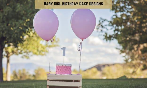 Baby Girl Birthday Cake Designs