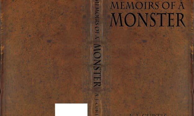The first couple pages of my new book Memoirs of a Monster.