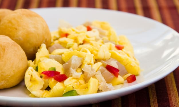 No, It's Not Scrambled Eggs. It's Ackee!