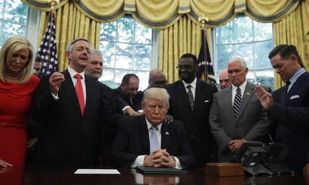 Republicans say Trump mocks evangelical supporters behind closed doors.