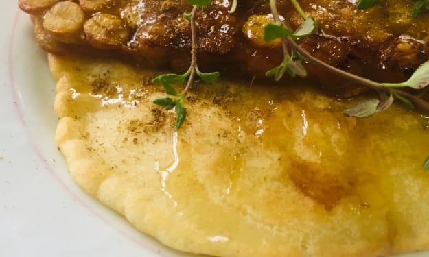 Pancakes and tempeh