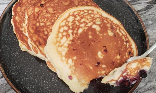 Blueberry Coconut Pancakes!