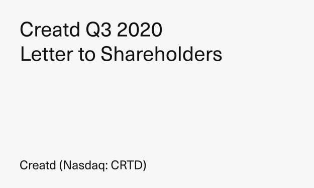 Creatd Q3 2020 Letter to Shareholders