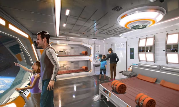 We have a FIRST LOOK At Star Wars: Galactic Starcruiser Hotel Room