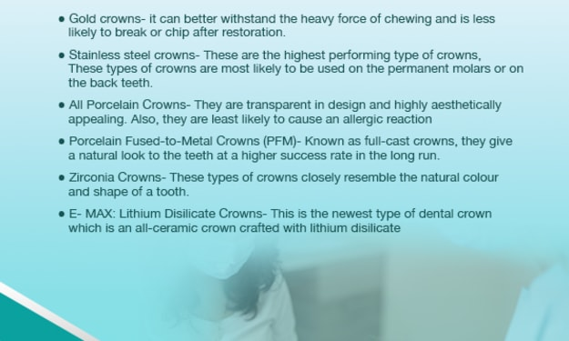 Type of Dental Crowns and its Cost: the complete guide