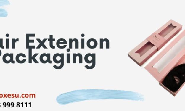 Hair packaging Printed logo & Design