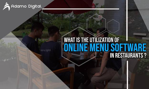 the utilization of online menu software in restaurants