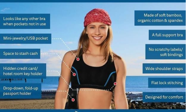 A Bra that revolutionized travel, One woman at a time