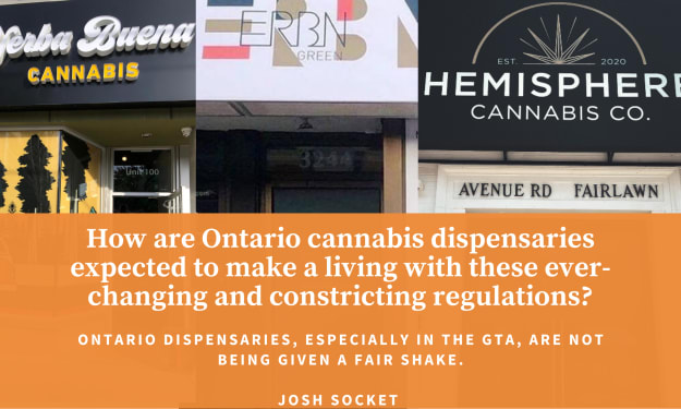 How are Ontario cannabis dispensaries expected to make a living with these ever-changing and constricting regulations?
