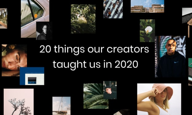 20 Things Our Creators Taught Us in 2020
