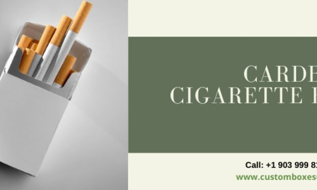 Cardboard cigarette boxes and Point of Sale Material in UK