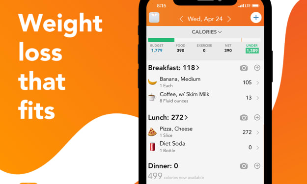 Lose It! Phone App for Tracking Meals and Weightloss