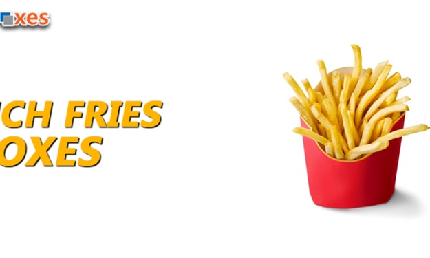 French Fry Boxes Wholesale-French Fries Boxes with Logo