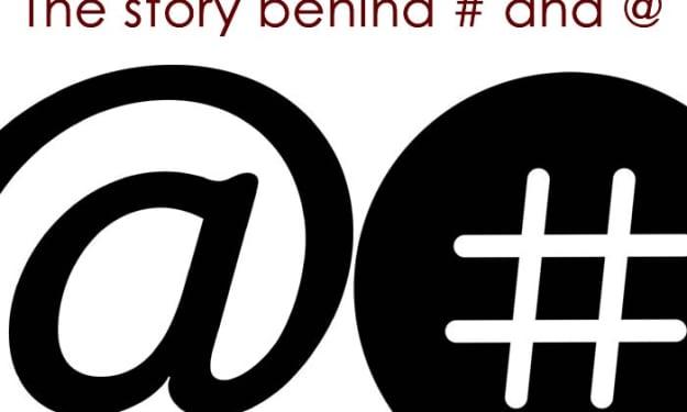 The Origins of Symbols @ and #