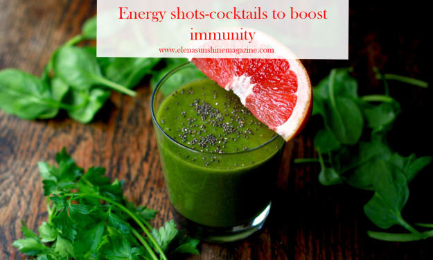 Energy shots-cocktails to boost immunity
