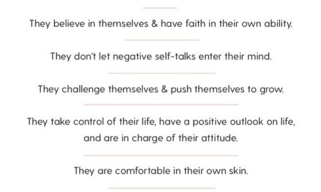 10 Rules Confident People Live By