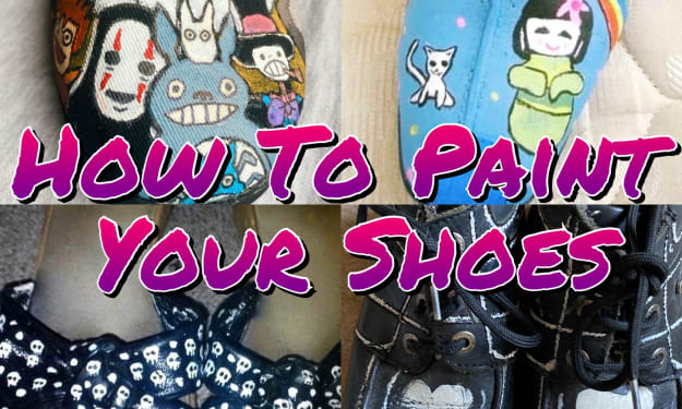 Turn Your Old Shoes Into  Wearable Art For Under £20