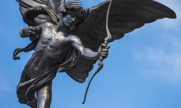 The Statue of Eros in London's Piccadilly Circus