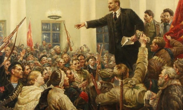 """Events leading to the 1917 """"October Revolution"""" in Russia"""