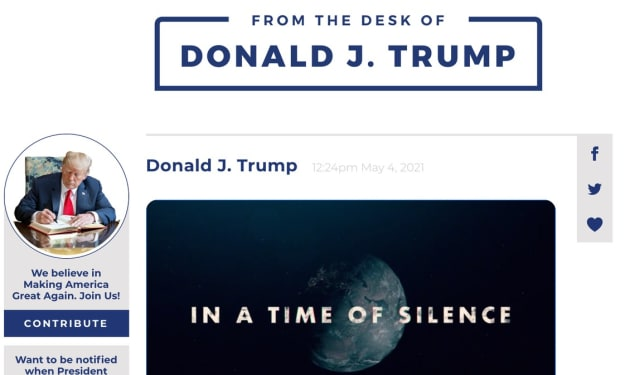 A CLONE OF TWITTER LAUNCHED BY DONALD TRUMP AND HE'S THE ONLY ONE ON IT