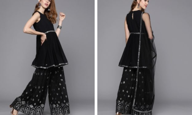 Look unique and stylish in beautiful Sharara